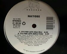 """It's Too Late by Nayobe 12"""" Freestyle Pristine Condition WTG records 1988"""