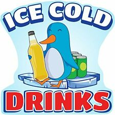 Ice Cold Drinks 2 36 Concession Decal Sign Cart Trailer Stand Sticker Equipment