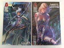 White Widow #2 Red Giant Cover B C Continuado Foil Debalfo Lenticular Set NM