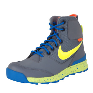 Nike Stasis ACG GS Boys Shoes SZ 6 Gray Leather Boots Hiking Outdoors 685610 003