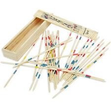 Wooden Pick Up Sticks Wood Retro Traditional Games Pickup Sticks Toys Box Fun。