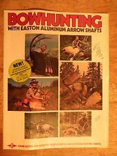 EASTON ARROW SHAFTS BROCHURE ARCHERY COMPANY VINTAGE BOW HUNTING EQUIPMENT
