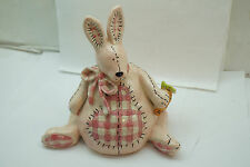 Blue Sky Clayworks Bunny Munny Piggy Bank Rabbit Still Coin Pottery Pink