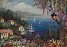 Bittar Signed Original Oil Painting  Seascape Plate-knife  Oversize Framed