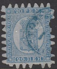 FINLAND :1866  Serpentine Roulette 20p pale blue/blue SG 37 used