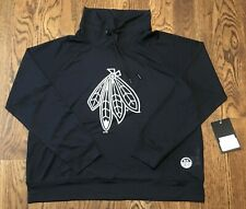 Chicago Blackhawks DKNY Sport Womens Large Cowl Neck Pullover NWT Jersey