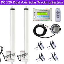 "Electric Dual Axis Solar Tracking Tracker +2*18"" Linear Actuators +Controller Cl"