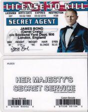 Daniel Craig MI6 Scotland Yard James Bond 007 drivers License to Kill fake id
