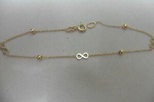new 18kt dainty infinity bracelet yellow gold