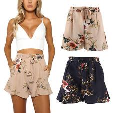 AU Womens Ladies Fashion Summer High Waist Floral Casual  Beach Hot Pants Shorts