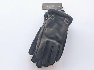 Hestra Sport Classic Deerskin Primaloft Rib Gloves - Size 8 - Black