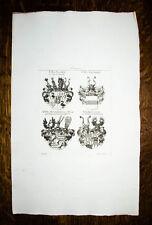 1816 Wappen Kupferstich Tyroff Grafen Closen Leonrodt Muggenthall-Waal Rehlingen