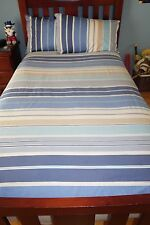 COTTON HOUSE KS/DOUBLE BED NAUTICAL QUILT COVER, DOONA INSERT 2 PILLOW CASES,VGC