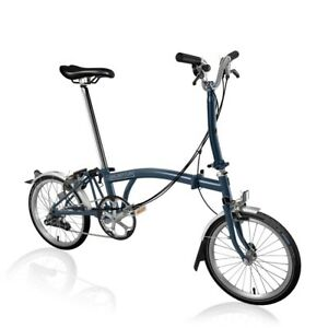 Brand New Brompton M6L Tempest Blue Folding Bike 🌎 Shipping TRUSTED SELLER