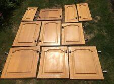 10 X Solid Wood Kitchen Cupboard Doors With Handles
