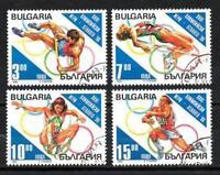 jo Sommer Bulgarien (3) Serie komplette mit 4 Briefmarken entwertet