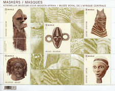 Belgium 2017 MNH Masks Royal Museum for Central Africa 5v M/S Cultures Stamps
