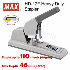 MAX HD-12F Heavy Duty Flat Clinch Stapler (Staple up to 110 pages)