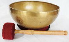 "E656 Energetic Third Eye Chakra Healing Hand Hammered Tibetan Singing Bowl 10.5"""