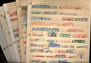 BRITISH COLONIES, SARAWAK, 100s of Stamps in battered stock pages