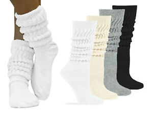 Jefferies Socks Womens Slouch Cotton Knit Scrunch Socks 3 Pair Pack
