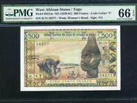 West African States/Togo:P-802Tm,500 Francs,1959-61 * PMG Gem UNC 66 EPQ *