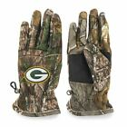 Real Tree 47 Brand Camouflage NFL Green Bay Packers Fleece Gloves Mens Size L/XL