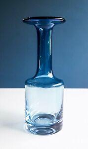 Gral Glas Vase blauer Farbverlauf Hans Theo Baumann 60er 60s mid-century design