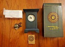 Vintage Boyd'S Bears – Bailey…On Time – Clock And Bear Set – 1997