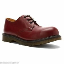 DR. MARTENS 1925 Mens Size US 14 (UK 13) Cherry Red Leather 3 Eye Oxfords Shoes