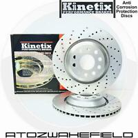 For Bmw 5 series E60 E61 6 series E63 E64 kinetix rear drilled brake discs 320mm