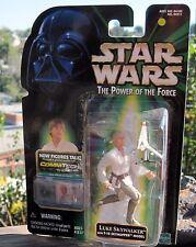 1999 Hasbro Star Wars Figure Power of the Force Comtech Luke Skywalker W/T16 MOC