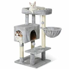 """New listing rabbitgoo Cat Tree, 38"""" Cat Tower with Adjustable Base for Indoor Cats,"""