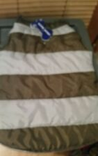 Green and Gray Striped Dog Puffer Jacket size M