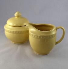 Southern Living at Home Gail Pittman Hospitality Yellow Creamer Sugar Bowl Set