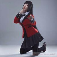 Anime Kakegurui Yumeko Jabami School Uniform Suit Halloween Cosplay Costume Set