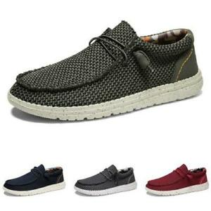 Mens Canvas Pumps Slip on Loafers Shoes Driving Moccasins Flats Breathable New L