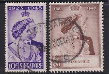 More details for singapore-1948 royal silver wedding set sg 31-32 fine used