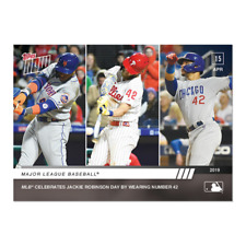 2019 TOPPS NOW #88 JACKIE ROBINSON DAY MLB CELEBRATES WEARING NUMBER 42