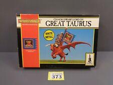 Warhammer Fantasy Chaos Dwarf Lord on Great Taurus in box 373-376