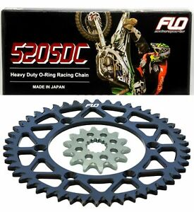 FITS Yamaha DT250 MX />1980 Gold Heavy Duty GTR Chain and Sprocket Kit Set