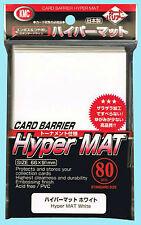 80 KMC HYPER MAT WHITE Standard Size Card Barrier Deck Protector matte sleeves