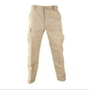 Propper BDU Trouser Khaki Button Fly 65 Cotton 35Poly Tactical Military  XL Reg.
