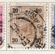 Austria 1899 antiguo problema Fine Used 20h. 093433