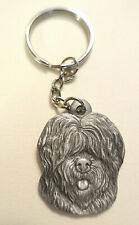 Vintage 1982 - I Love My Old English Sheepdog - Rawcliffe Pewter Key Chain