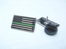 THIN GREEN LINE US STATES AMBULANCE EMS MEDIC PARAMEDIC MOURNING BAND PIN BADGE