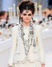 RARE Chanel 12A Classic Ivory Tweed Jacket 40 Blazer Coat Paris Bombay
