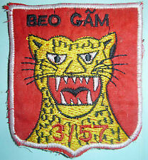 GROWLING LEOPARD - Patch - ARVN 3rd / 57th INFANTRY - Beo Gầm, Vietnam War, 6116