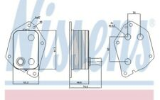 NISSENS Radiador de aceite motor 90721
