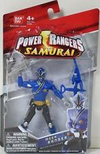 "POWER RANGERS SAMURAI 4"" MEGA RANGER WATER Figure 31502 BLUE MIGHTY MORPHIN MMPR"